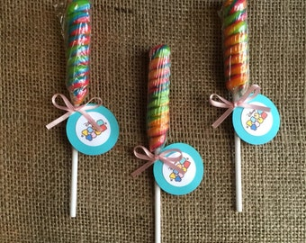 Tsum Tsum Lollipop Twist - Party Favor - Goody Bag - Birthday Party - Set of 10