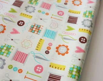 Cute Crafter World Fabric 100% Cotton - Perfect for Quilting Crafting & Sewing Project- Half Metre - Craft Supplies