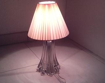 Lampe de table verre etsy - Verre de lampe tulipe ...