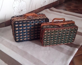 Lot of 2 cases vintage Wicker