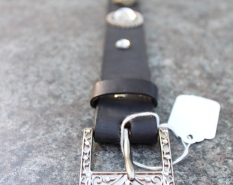 Victorian Steel Cut Leather Tribal Fusion Belt