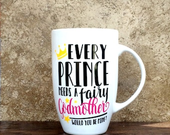 Fairy Godmother Mug - Godmother Mug - Christmas Gifts - Christmas Mugs - Best Friend Gift - Mug - Coffee Mug for Godmothers - Coffee Cups