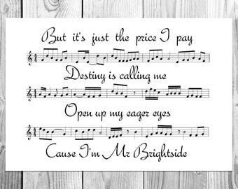 Unique Mr Brightside Related Items Etsy