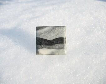 Landscape inspired handmade ring