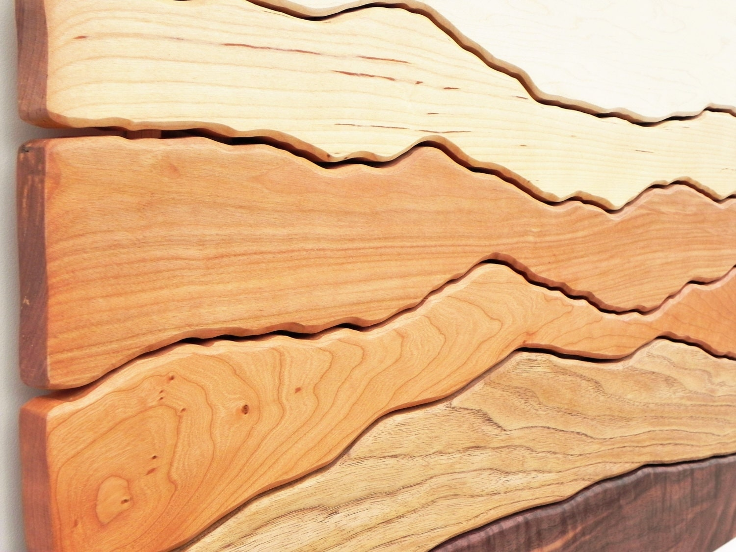 Made to Order Mountain View Wood Wall Art Wall