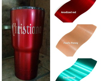 Powder Coated RTIC stainless steel tumbler choose 20 oz, 30 oz or can cooler personalized customized rtic