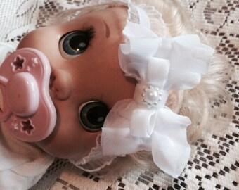 Ruffled baby headband