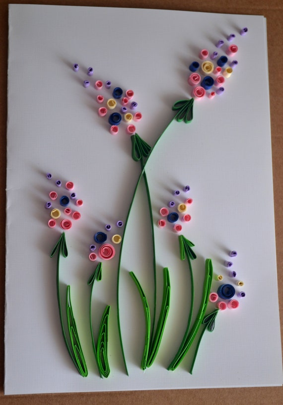 Items Similar To Quilled Greeting Card Birthday Card