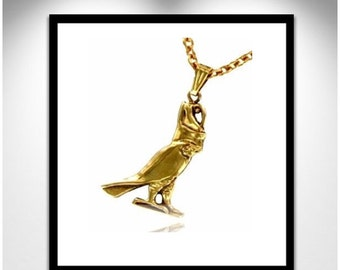 Gilt bronze HORUS _ HORUS necklace Gilded Bronze necklace