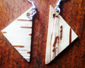 Birch earrings, reversible and can be bought with necklace as a unique set to wear at any occasion