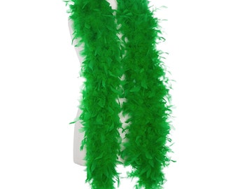 Kelly Green 65 Gram Chandelle Feather Boas - 6 Feet Long - Use as Trim or Wear as a Scarf - Halloween Party Favors - Decorations - Feathers