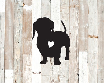 Dachshund decal.  Permanent decal for windows, wall decor, cars, etc.