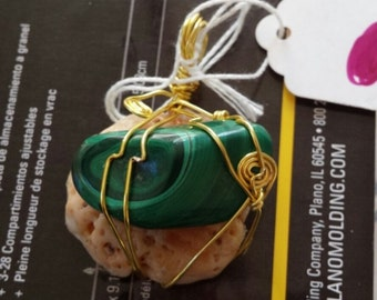 malachite and shell piece by justin