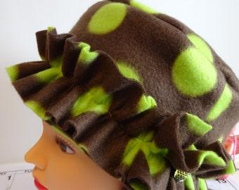 Fleece Polka Dot Hat II