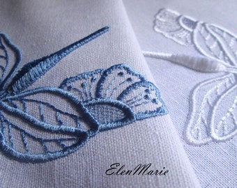 MACHINE EMBROIDERY DESIGN - Dragonfly Cutwork Velvet