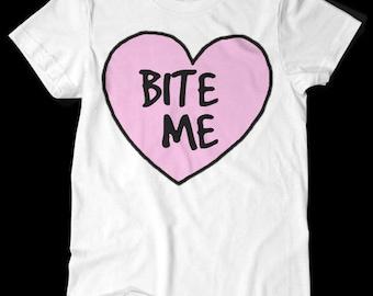 Bite Me TShirt White