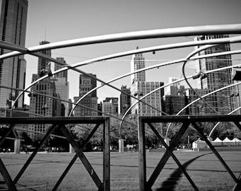 Chicago architecture from Millenium park