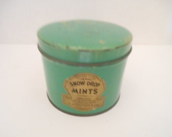 Vintage Snow Drop Mints Tin/Small/E.G.Whitman & Co.