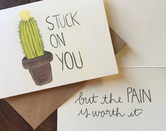Stuck on You Valentine's Day card