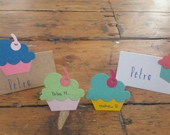 5/pack-Cupcake, sweet place card!!!
