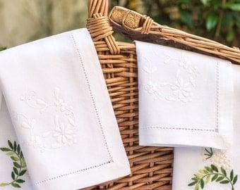 White floral napkin