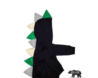 Seahawks Style Toddler Boy Dino Hoodie - Dinosaur Hoodie, Monster Hoodie, Dragon Hoodie