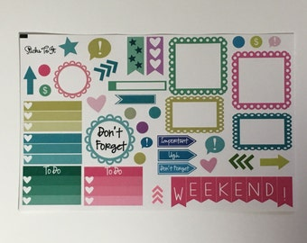 Palm Springs Build Your Own Kit Call Out Functional Erin Condren ECLP Mambi Inkwell Press Filofax Kikki K Happy Life Summer Stickers
