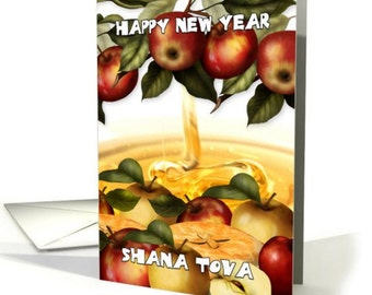 Rosh Hashanah | Greeting Card With Apples  | Shana Tova card | Apples and Honey