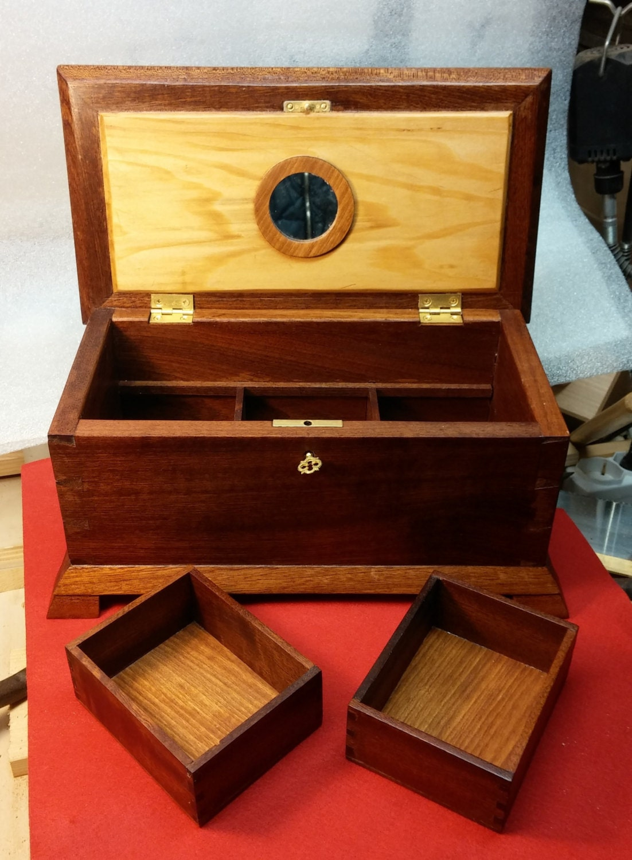 Custom hand carved mahogany jewelry box custom jewelry boxes for Custom made ring box