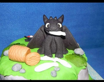 Toothless How to Train Your Dragon 6 piece Cake Topper Set