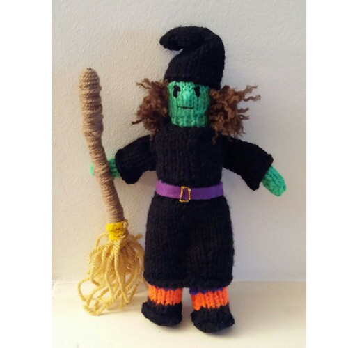 wicked witch knitting pattern to make knitted doll