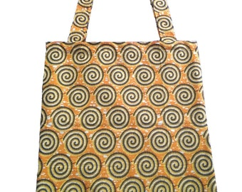 Yellow spiral totebag