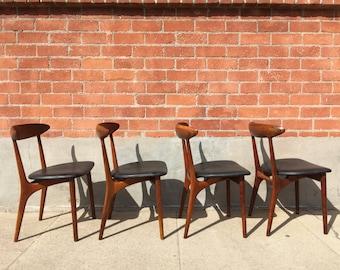4 Dining Chairs by Kurt Ostervig for Brande Mobelfabrik