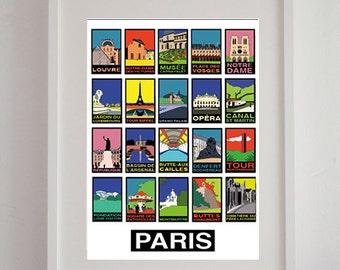 """""""Paris"""" 50 x 70 cm - décorative poster, poster vintage, retro poster"""