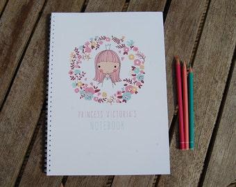 Personalised Princess Children's Notebook