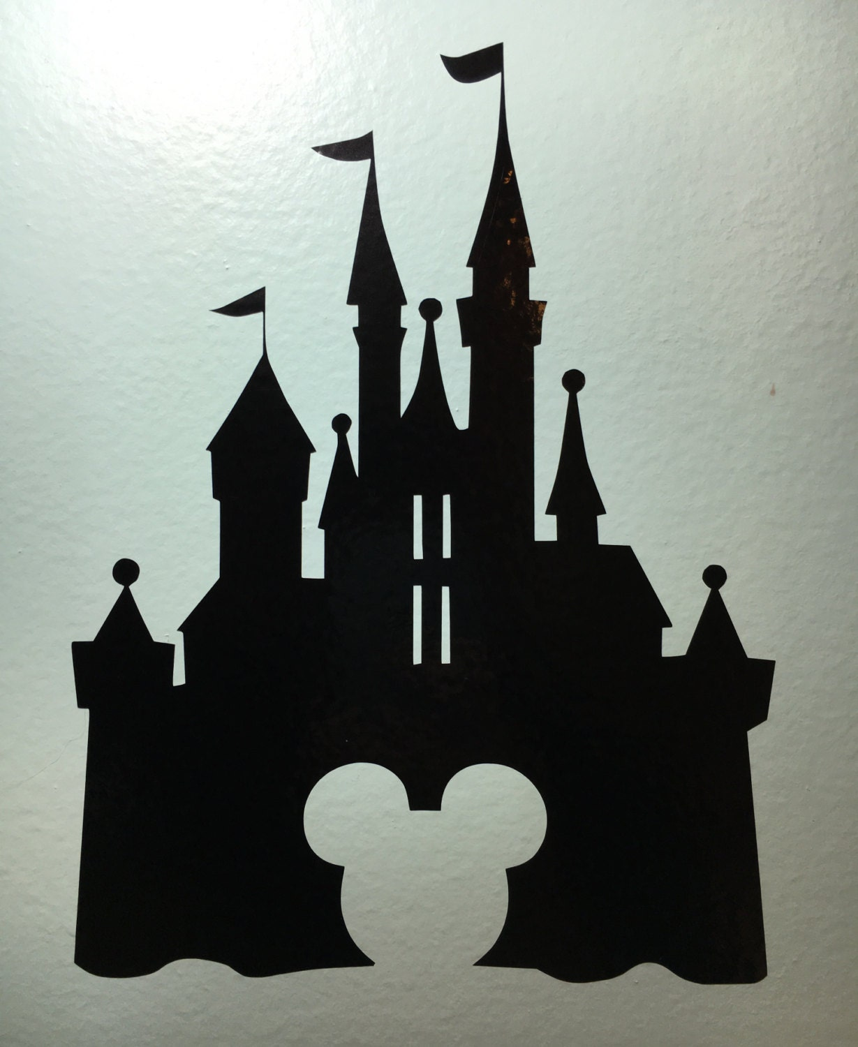 disney castle disney wall decal sticker vinyl decal vinyl. Black Bedroom Furniture Sets. Home Design Ideas