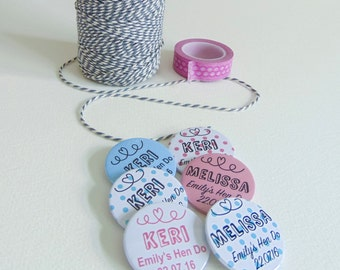 Personalised Hen Party Badges | Hen Badges | Hen Party Ideas | Hen Do