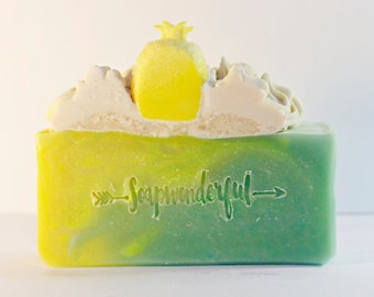 Pineapple Cilantro Shea Butter Cold Process Soap Bar