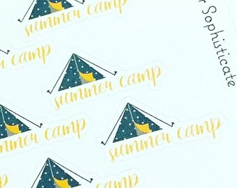 summer camp stickers #momlife