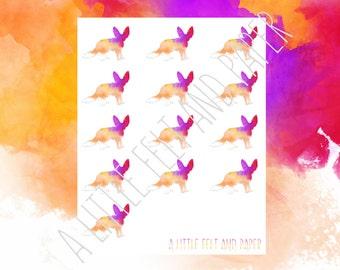Watercolour Desert Fox Stickers