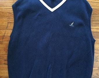 Nautica Sweater Vest Vintage 90s