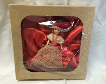 Vintage Doll with Red Dress