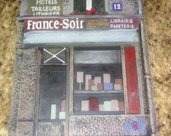 """Decorative Wall Tile. """"France-Soir"""" #12"""