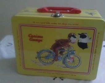 Vintage* Curious George* Tin Lunch Box!!!!