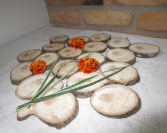 "Wood coasters 3.5-4.5"" width 0.5"" - Decorations - Wood Slices - Wedding Decorations - Tree Slices - Tree Slice"