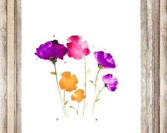 Watercolor Wildflower Print