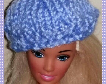 French beret for barbie doll design (23)