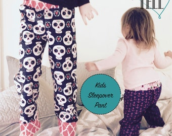 Kids Sleepover Pajama Pant Digital Pattern