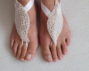barefoot sandals,rhinestone,silver, wedding sandals,bridal anklet,beach sandals, bride accessories, free shipping!