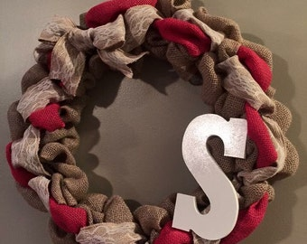 Burlap Initial Wreaths